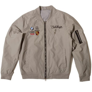 Club Foreign Light Spring Bomber Jacket Light Grey