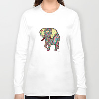 Elephant Long Sleeve T-shirt by ユミタロ