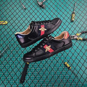Gucci Ace Embroidered Sneaker Black-1