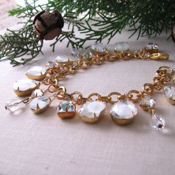Holiday jewelry WINTER CHILL charm bracelet by shadowjewels