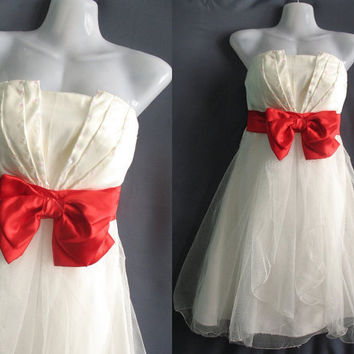 Sweet White Party Dress Forever Love Romance by midress on Etsy