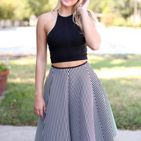 Full Stripe Midi Skirt