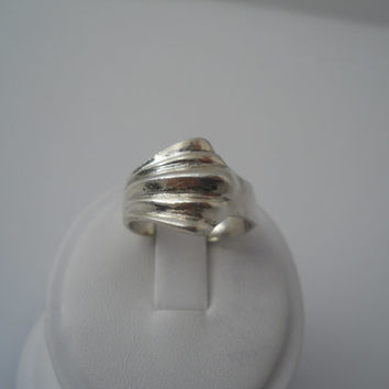 Sterling Silver 925 Ridge Wave Ring Size 9 Mexico 925