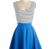 ModCloth Nautical Short Length Sleeveless A-line Do Your Own Swing Dress