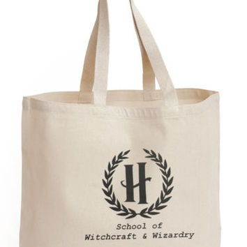 School of witchcraft and wizardry Cotton Tote ECO canvas Bag 4 life harry potter | eBay