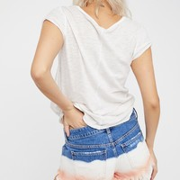 Free People Dip Dye Cut Off Short
