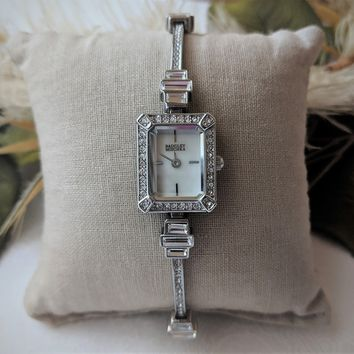 Badgley Mischka Women's BA/1313WMSB Swarovski Crystal-Accented Bracelet Watch