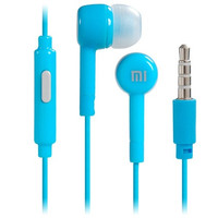 3.5 mm In-ear Earphones with Microphone & 1.1 m Cable for Xiaomi, HTC, Samsung, Cell Phones (Blue)