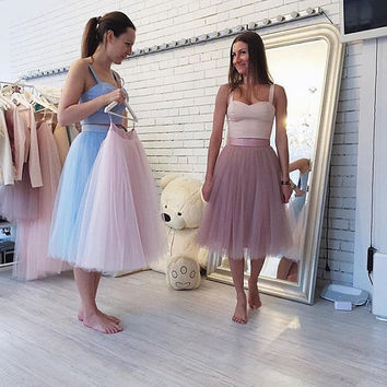 Tulle Skirt  Tutu Adult Tulle Skirt Knee Length Tulle Skirt Women Tutu Bridesmaid  Bachelorette Ballet Skirt Balerina Tulle