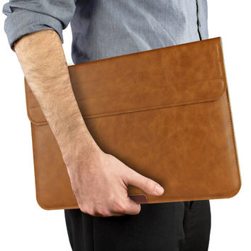 """Slim Protective sleeve Bag  leather Notebook Pouch case Cover for MacBook 11"""" 12"""" 13"""" Air Pro Retina surface 3 4 ipad 12.9 inch"""