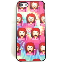 SASSY GIRL EMOJI PASTEL TIE DYE iPhone 6 5 5s 5C 4 4S Phone Cover HARD CASE