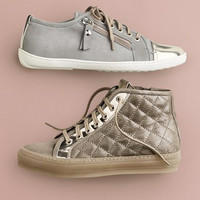 Quilted Leather High Top Sneaker (Women)