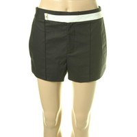 Helmut Lang Womens Contrast Trim Pintuck Dress Shorts