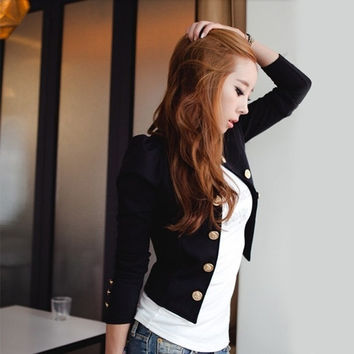 New Spring Fashion Blazer Short Sexy Casual Suits Jacket Outerwear For Women Slim Blazer D_L = 1931769348