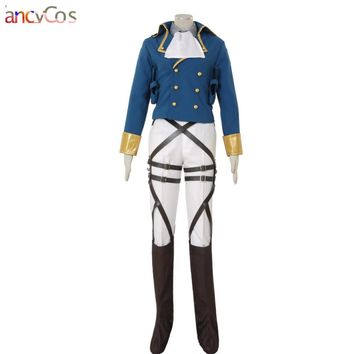 Cool Attack on Titan Halloween  AOT no  Levi Rivaille  Rival Ackerman Survey Corps leather Cosplay Costume Game Japanes AT_90_11