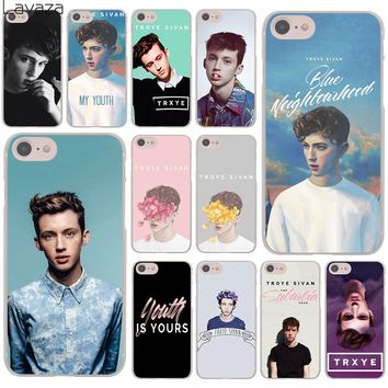 Lavaza Troye Sivan Blue Neighborhood trxye Hard Cover Case for Apple iPhone 8 7 6 6S Plus 5 5S SE 5C 4 4S X 10 Coque Shell