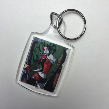 Harley Quinn Keychain - Keychain - Harley Quinn - DC Comics - Comic Book Keychain (Ready to Ship)