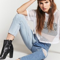 Reworked Contrast Mom Jeans
