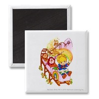 Rainbow Brite  friends on roller coaster Magnets from Zazzle.com