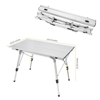 Folding Table Ultra-light Aluminium Alloy Foldable Desk Durable Portable Outdoor Picnic Tables For Barbecue Camping TB S