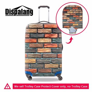Dispalang brick wall 3D print luggage protective cover for 18-30 inch trunk case weave pattern elastic waterproof suitcase cover