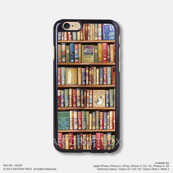 Vintage bookshelf Free Shipping iPhone 6 6 Plus case iPhone 5s case iPhone 5C case 240