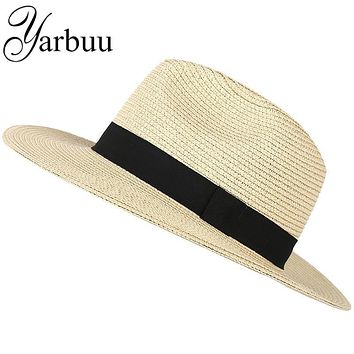 [YARBUU] fedora hat for men and women 2017 new fashion hot style sun hats The British leisure cap summer caps boy free shipping