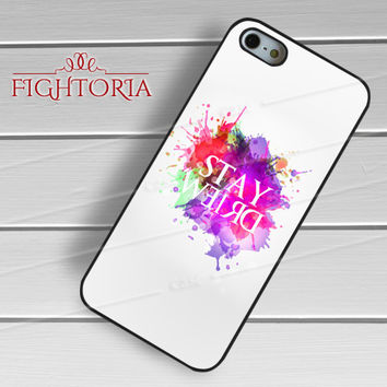 Stay weird funny quote watercolor splash -s5tl for iPhone 6S case, iPhone 5s case, iPhone 6 case, iPhone 4S, Samsung S6 Edge