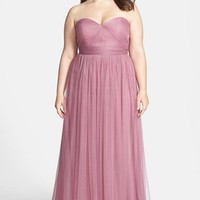 Jenny Yoo 'Annabelle' Convertible Tulle Column Dress (Plus Size)   Nordstrom