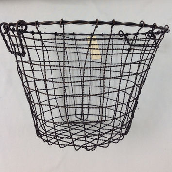 Iron Basket Round - 15.25 x 10.75""