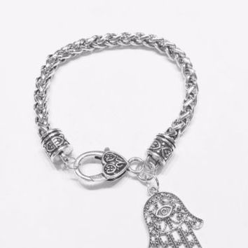 Hamsa Hand Eye Of God Jewish Fatima Charm Bracelet