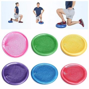 Inflatable Massage Yoga Ball Fitness Cushion Mat with Air Pump