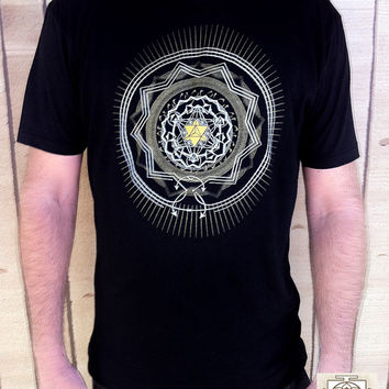 Star Seed /Sacred Geometry/ Mens Clothing / Unisex / Oragnic Bamboo / Hippie / Festival / Screen Printed / hipster