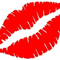 "1 X LIPS KISS MARK 6"" RED Vinyl Decal Window Sticker for Laptop, Ipad, Window, Wall, Car, Truck, Motorcycle"
