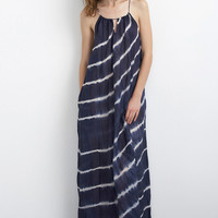 FILIPA TIE DYE SILK COTTON VOILE MAXI