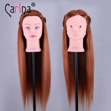 "24"" Training Head Cosmetology Mannequin Heads Mannequin Head For Makeup Practice Dummy Real Hair Mannequin Head With Free Ship"