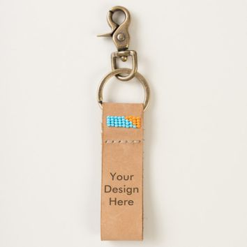 Design Your Own Custom Photo Leather Keychain