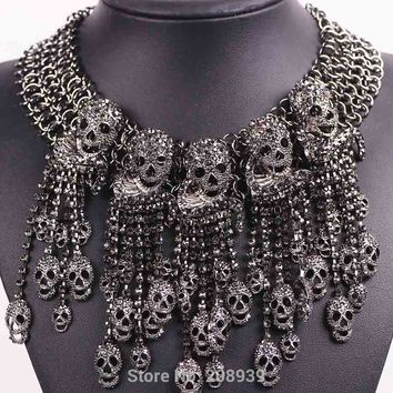 Rhinestone Skull Collar *Limited Edition*
