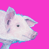 Piglet Painting For Nursery Or Kitchen