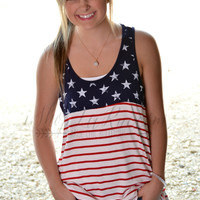 STARS AND STRIPES FOREVER TANK TOP