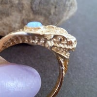 SALE! Gold Snake Ring,Opal ring,Animal Ring,Delacate ring,Thin Ring,Statement Ring,Simple ring,Birthday Gift