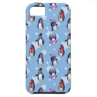 Penguin Pattern iPhone 5/5S Covers