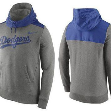 Los Angeles Dodgers Nike MLB Gray/blue Ultra Pullover Hoodie