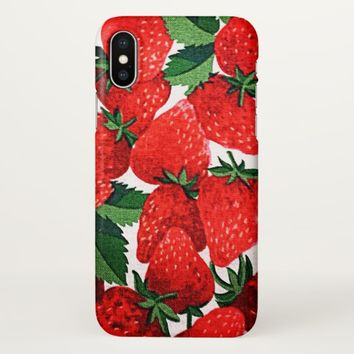 Claire Blossom Sweet Strawberry iPhone X Case
