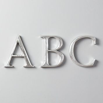 Antiqued Pewter Wood Letters
