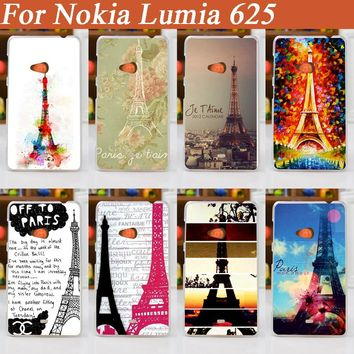 Transparent sides protective case DIY mobile phone case hard Back cover Skin Shell for nokia lumia 625 N625 Nokia 625