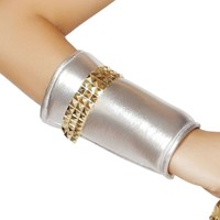 Wrist Cuffs w/Gold Trim Detail-As - Shown