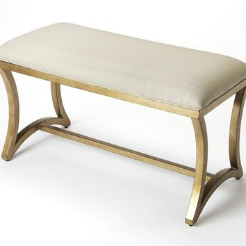 Butler Bellucci Linen & Metal Bench