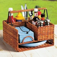 Wicker Picnic Organizer @ Fresh Finds