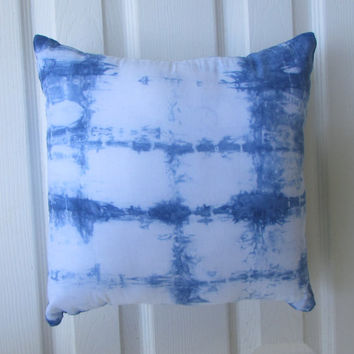 Indigo Shibori 14 X 14 Throw Pillow Cover